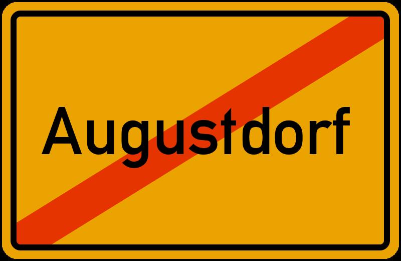 Ortsschild Augustdorf