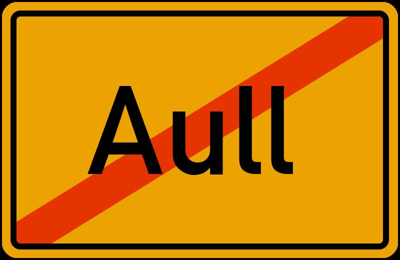 Ortsschild Aull