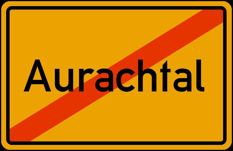 Ortsschild Aurachtal