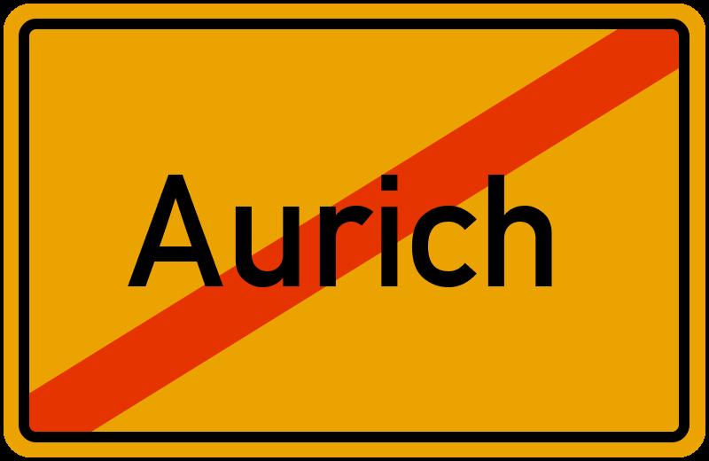 Ortsschild Aurich