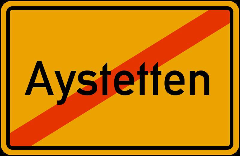 Ortsschild Aystetten