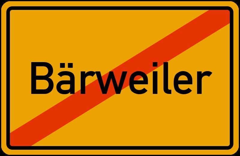 Ortsschild Bärweiler