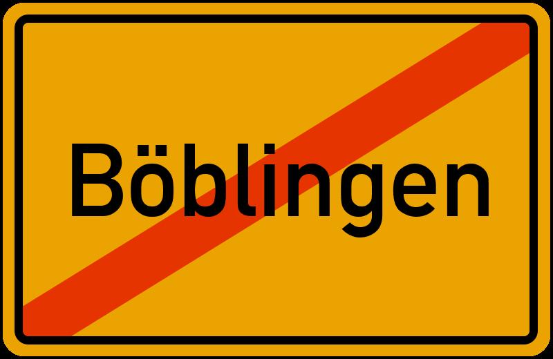 Ortsschild Böblingen