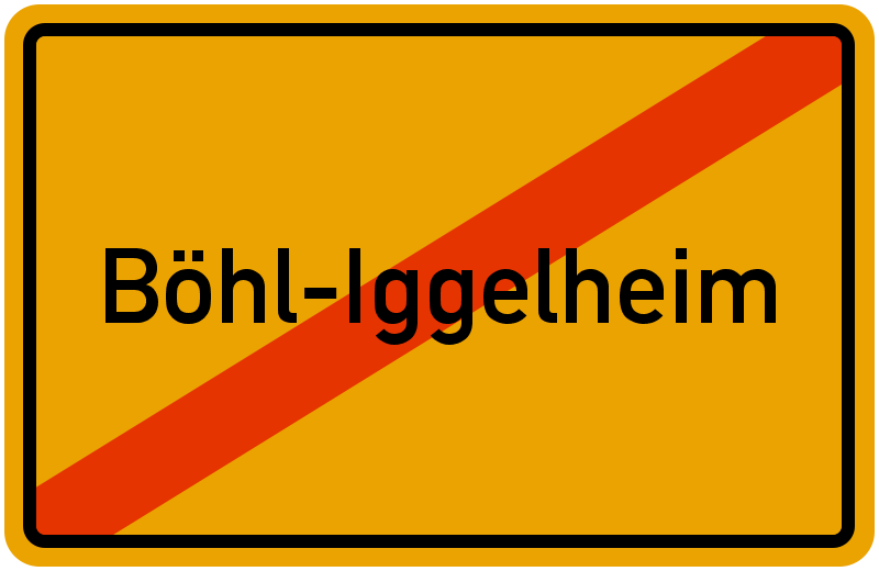Ortsschild Böhl-Iggelheim