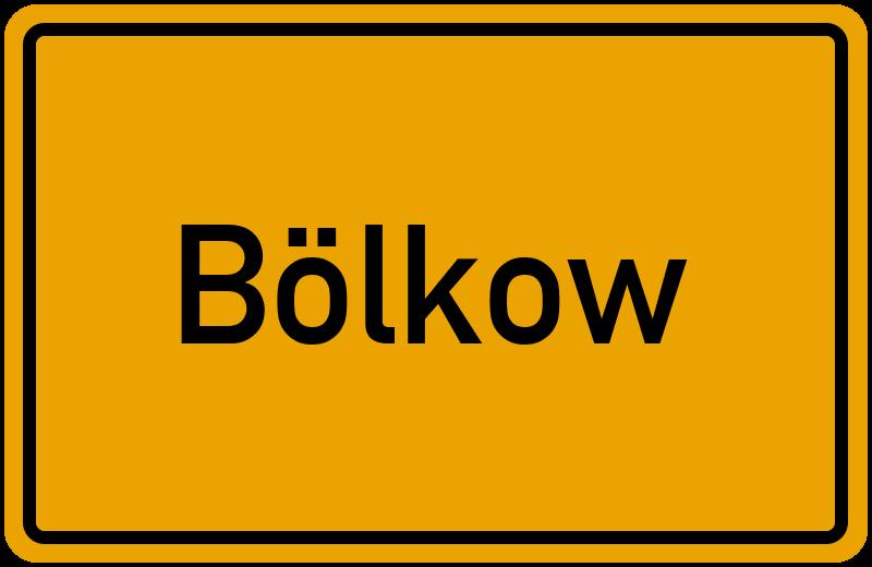 Ortsschild Bölkow