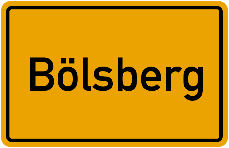 Ortsschild Bölsberg