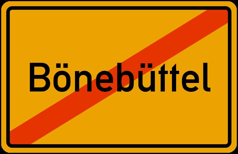 Ortsschild Bönebüttel
