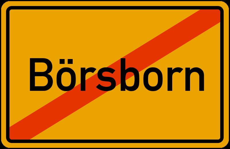 Ortsschild Börsborn