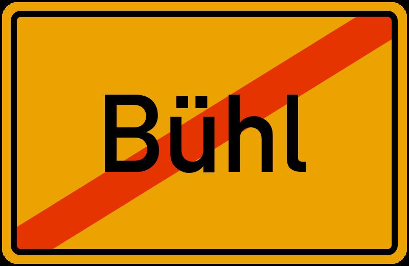 Ortsschild Bühl