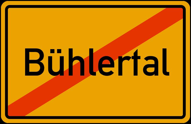 Ortsschild Bühlertal