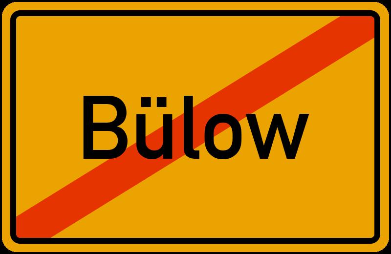 Ortsschild Bülow