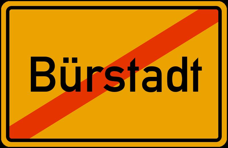 Ortsschild Bürstadt