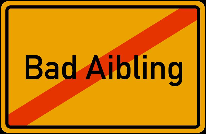Ortsschild Bad Aibling