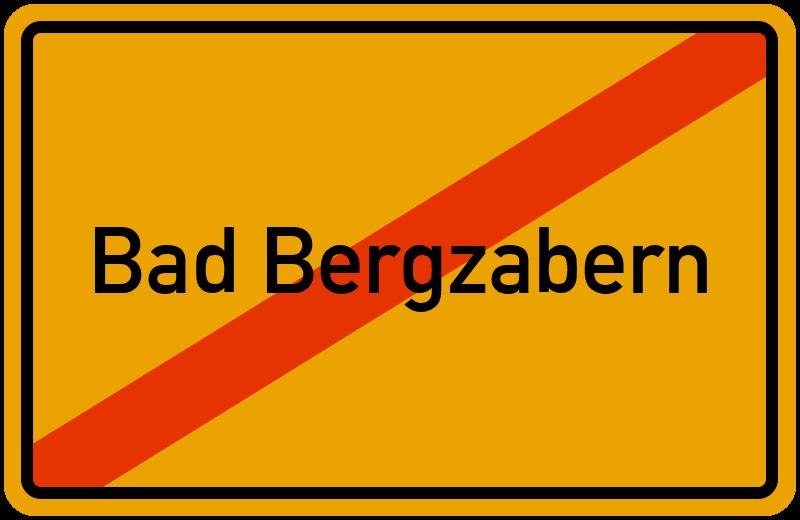 Ortsschild Bad Bergzabern