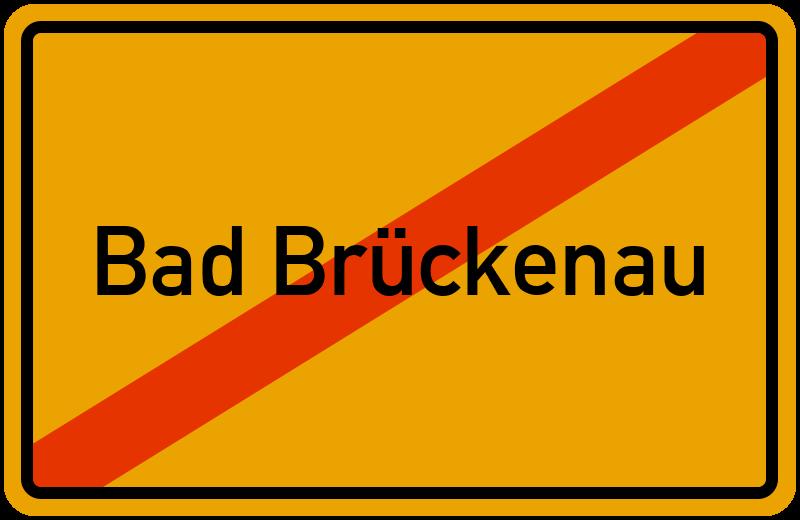 Ortsschild Bad Brückenau