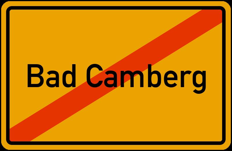 Ortsschild Bad Camberg