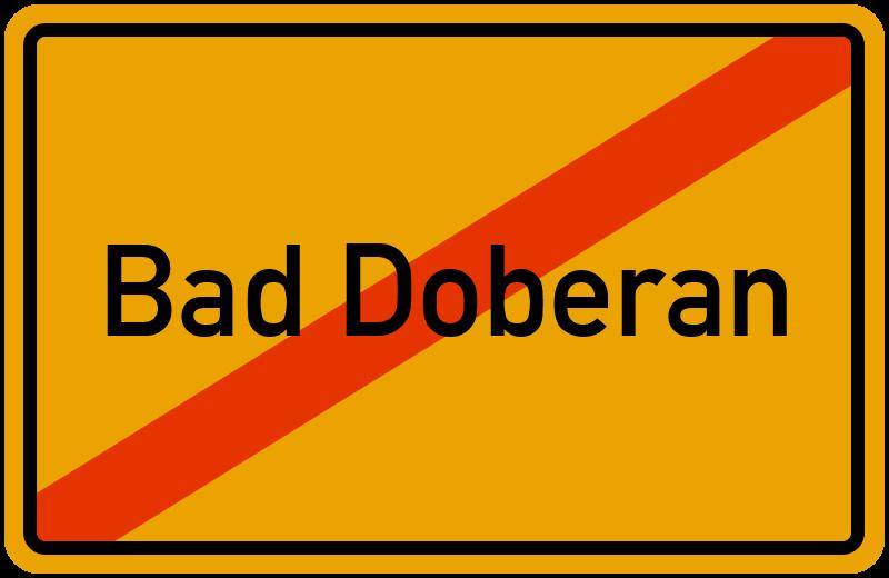 Ortsschild Bad Doberan