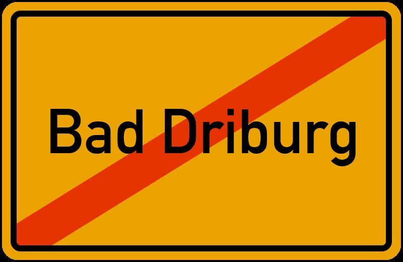 Ortsschild Bad Driburg