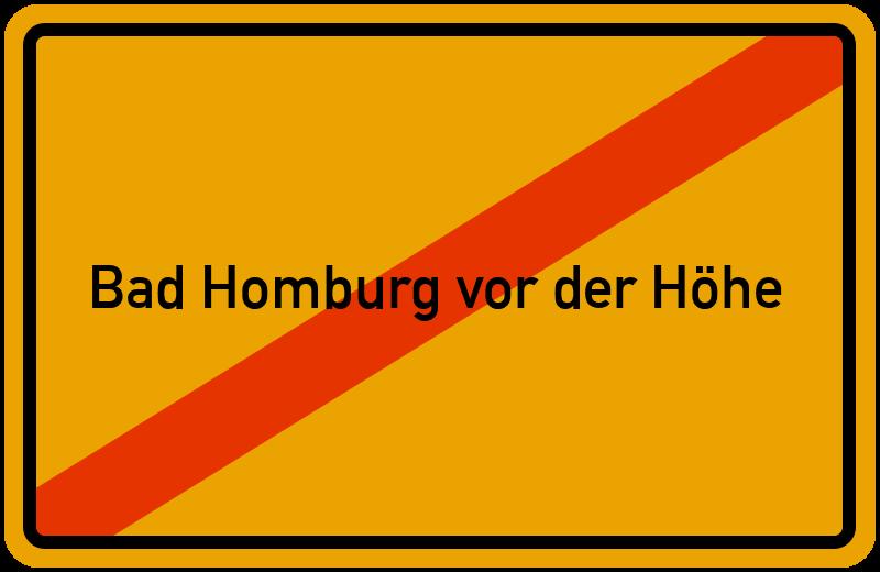 Ortsschild Bad Homburg vor der Höhe