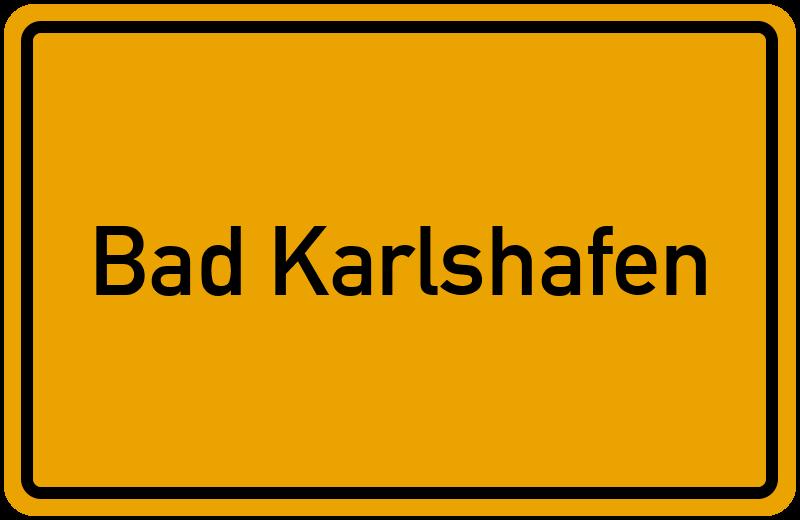 Ortsschild Bad Karlshafen