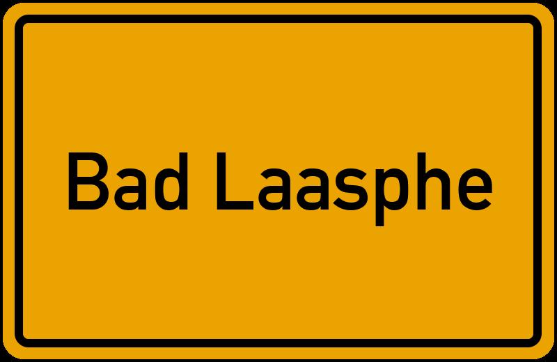Ortsschild Bad Laasphe