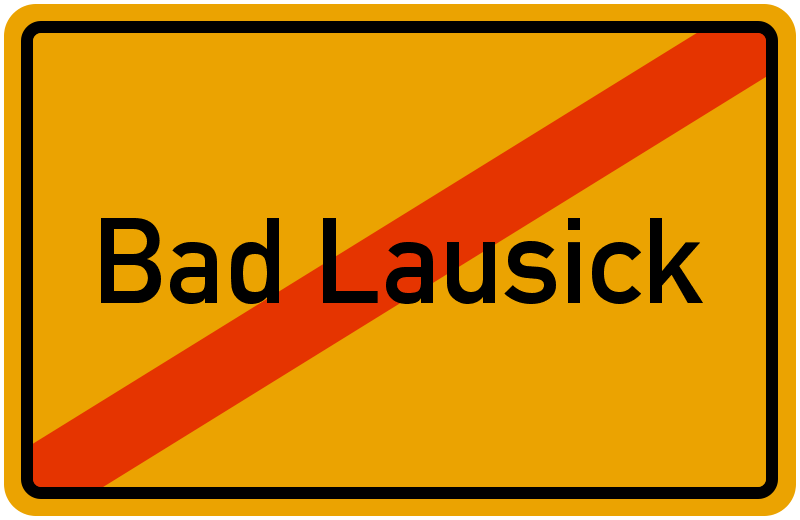 Ortsschild Bad Lausick
