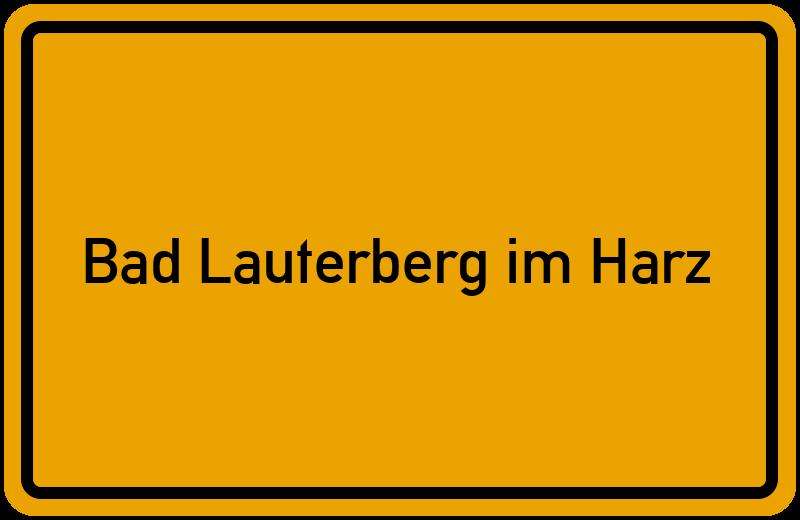 Ortsschild Bad Lauterberg im Harz