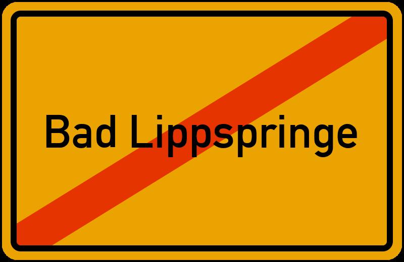 Ortsschild Bad Lippspringe