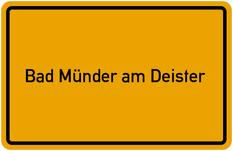 Ortsschild Bad Münder am Deister