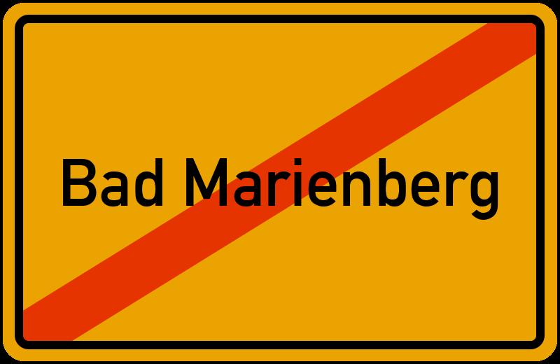 Ortsschild Bad Marienberg
