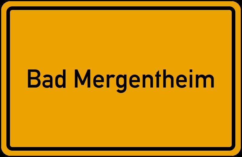 Ortsschild Bad Mergentheim Kostenlos Download Drucken