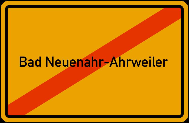Ortsschild Bad Neuenahr-Ahrweiler