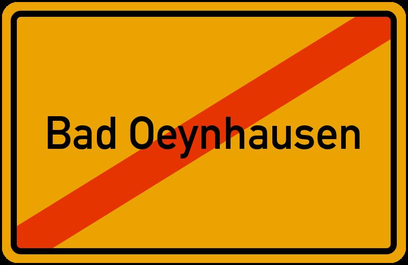 Ortsschild Bad Oeynhausen