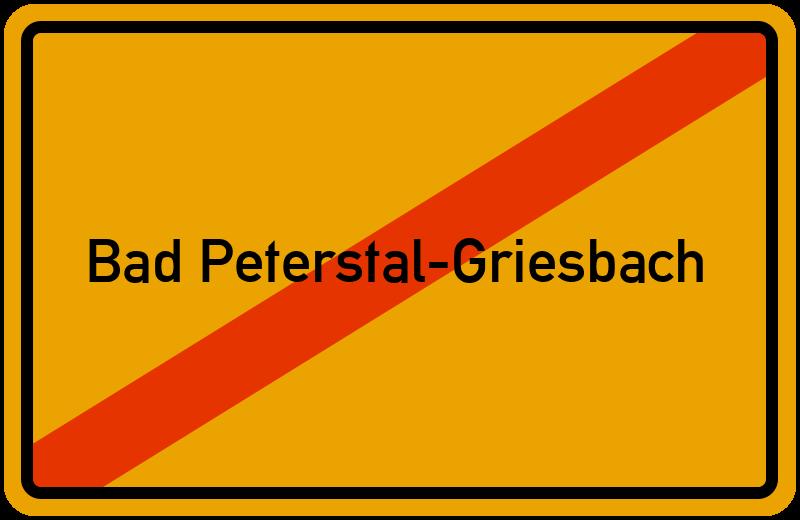 Ortsschild Bad Peterstal-Griesbach