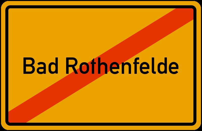 Ortsschild Bad Rothenfelde