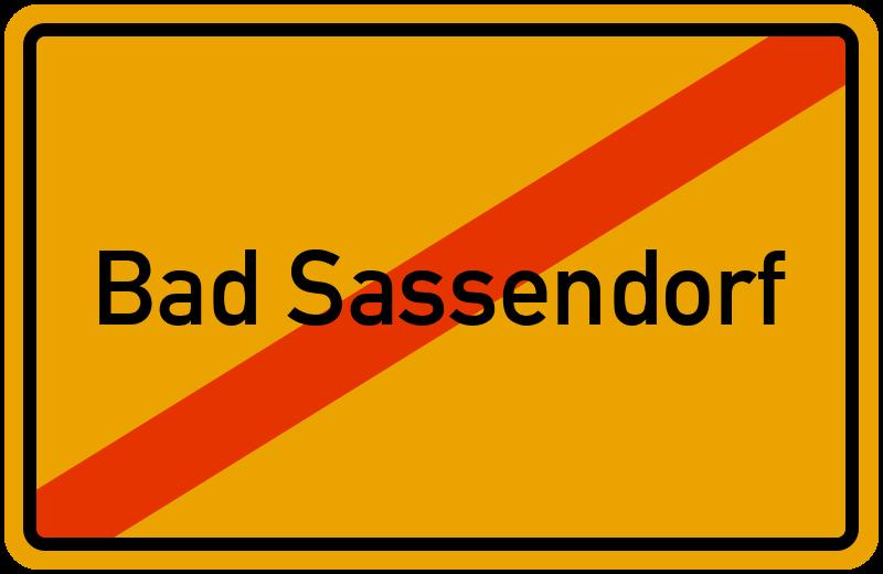 Ortsschild Bad Sassendorf