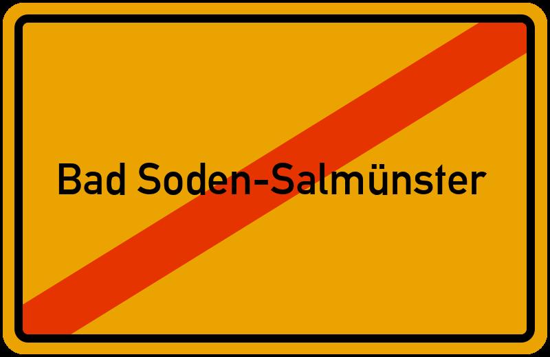 Ortsschild Bad Soden-Salmünster