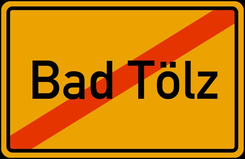 Ortsschild Bad Tölz
