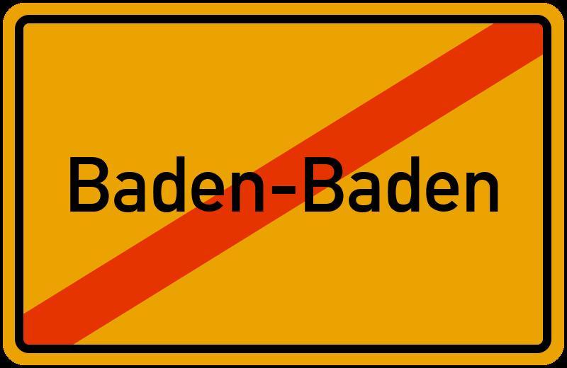 Ortsschild Baden-Baden