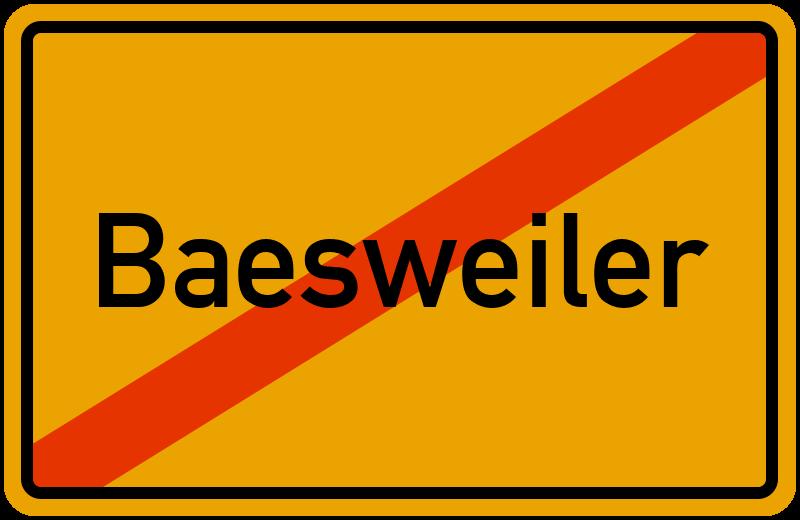 Ortsschild Baesweiler