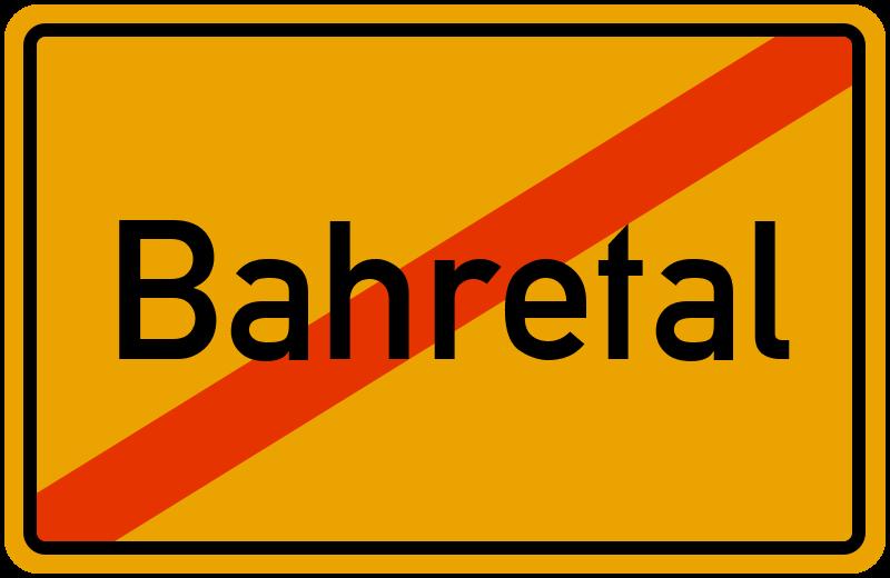 Ortsschild Bahretal