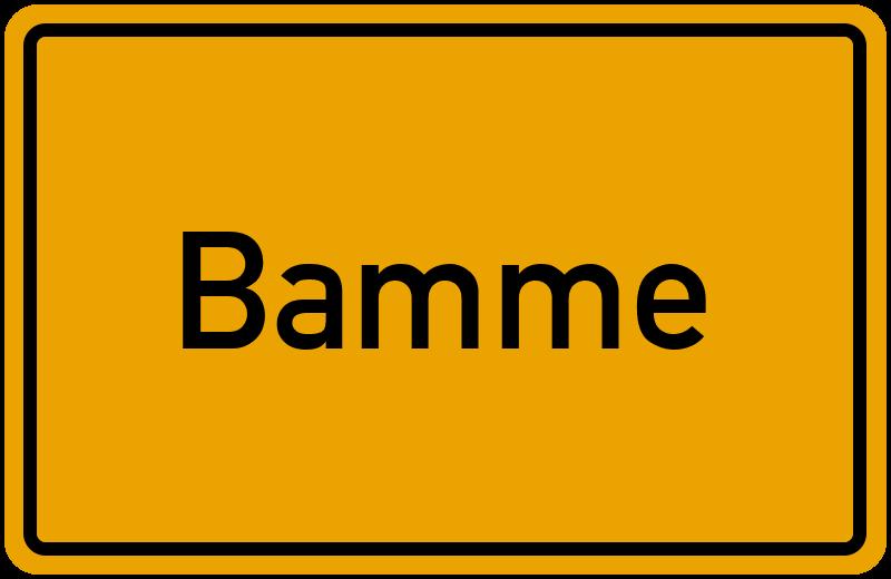 Ortsschild Bamme
