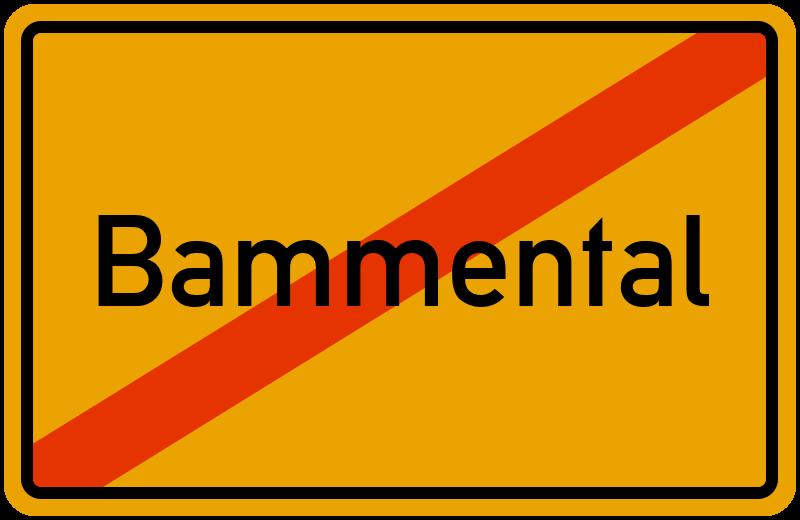 Ortsschild Bammental