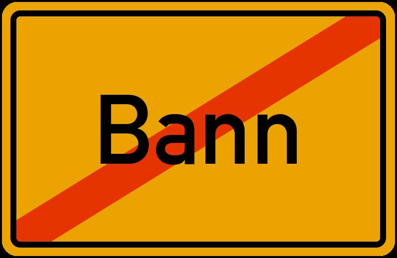 Ortsschild Bann