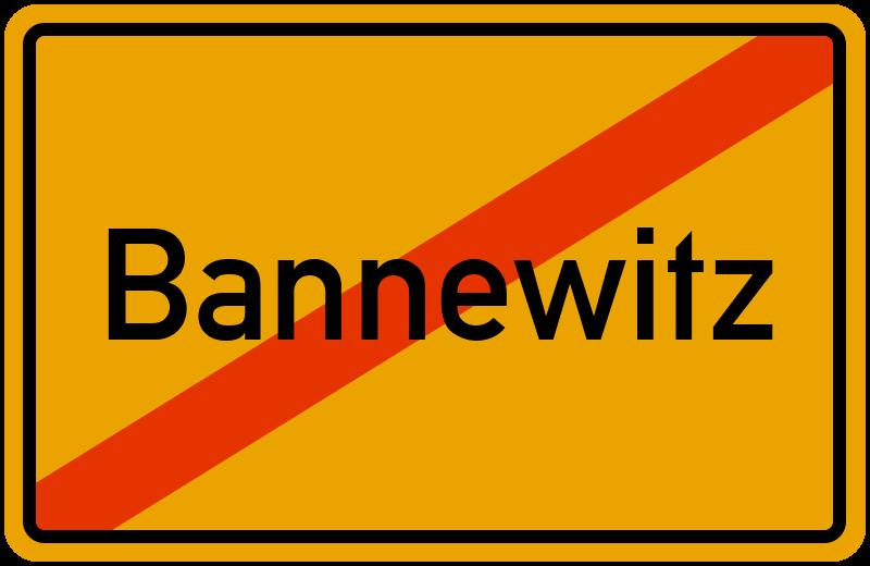 Ortsschild Bannewitz