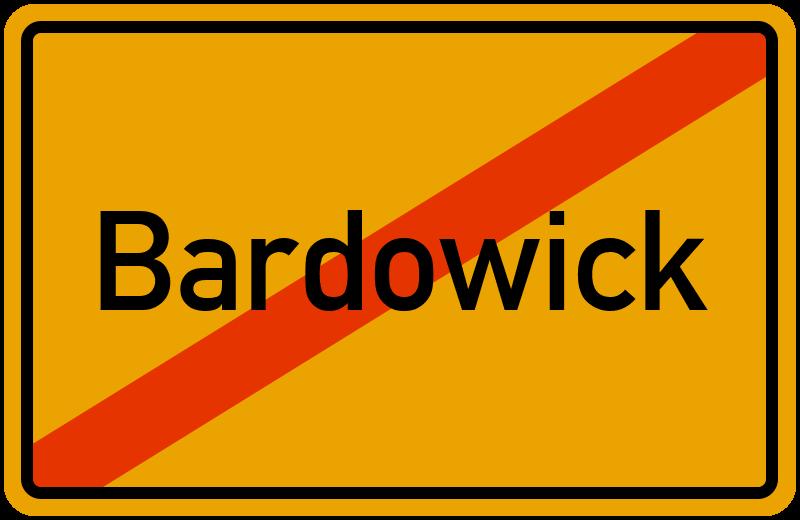 Ortsschild Bardowick