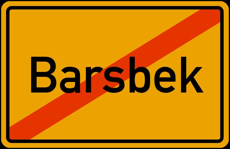 Ortsschild Barsbek