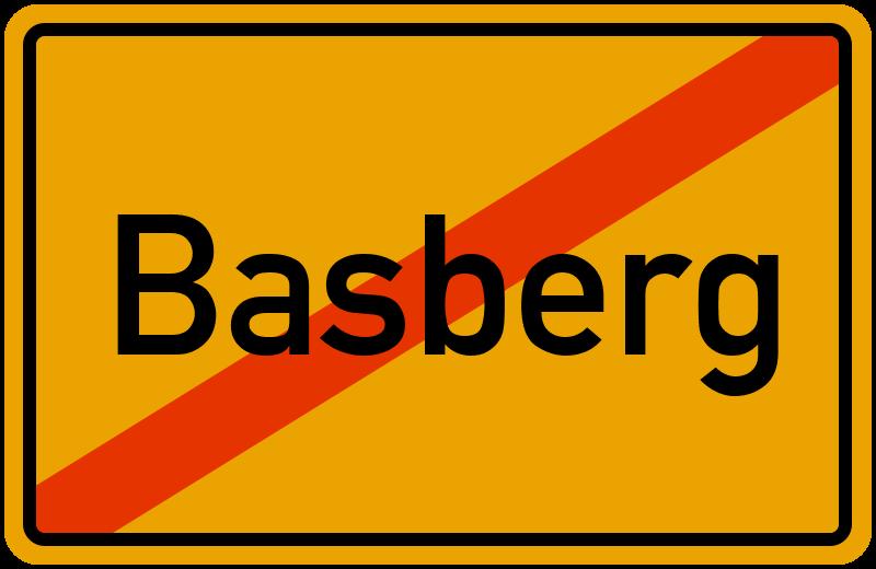 Ortsschild Basberg