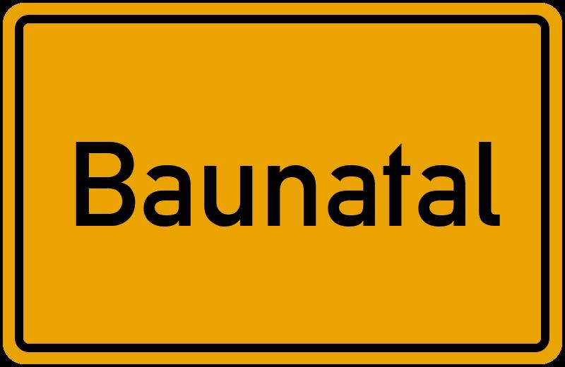 Ortsschild Baunatal