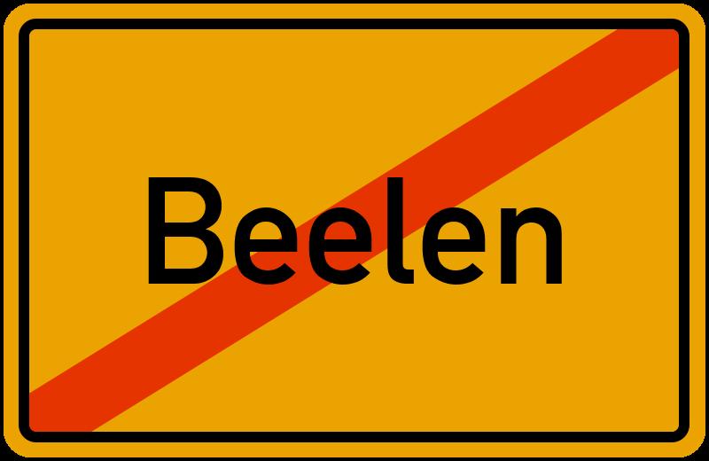 Ortsschild Beelen